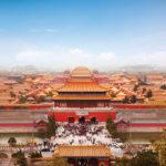 Beijing Forbidden City Skyline Square