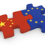 China and EU Puzzle Pieces – Chinese and European Flag