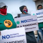 People's Vaccine Campaign of South Africa protest against Johnson & Johnson